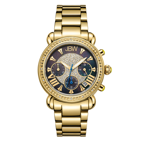 JBW Women's Victory 0.16 ctw 18k gold-plated stainless-steel Diamond Watch JB-6210-B