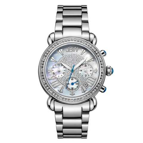 JBW Women's Victory 0.16 ctw Stainless Steel Diamond Watch JB-6210-D