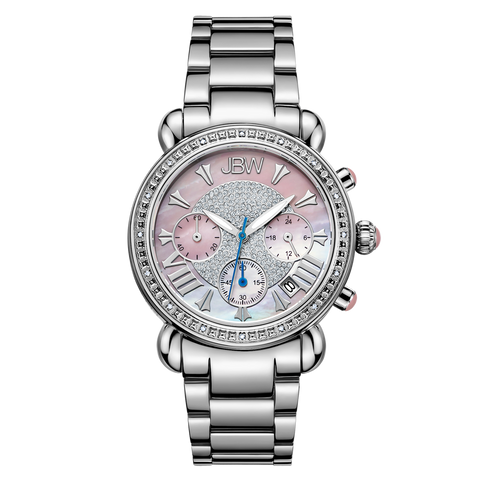 JBW Women's Victory 0.16 ctw Stainless Steel Diamond Watch JB-6210-F