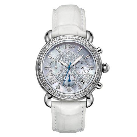 JBW Women's Victory 0.16 ctw Stainless Steel Diamond Watch JB-6210L-Q