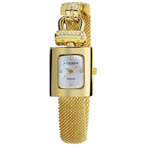 Akribos XXIV Women's Mesh Wraparound Quartz Watch AK510YG
