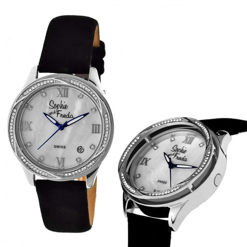 Sophie & Freda Los Angeles Swiss Ladies Watch - Silver/White