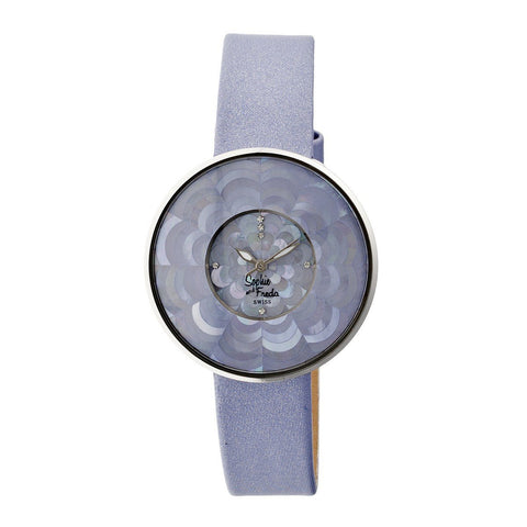 Sophie & Freda Venice MOP Swiss Ladies Watch - Lavender