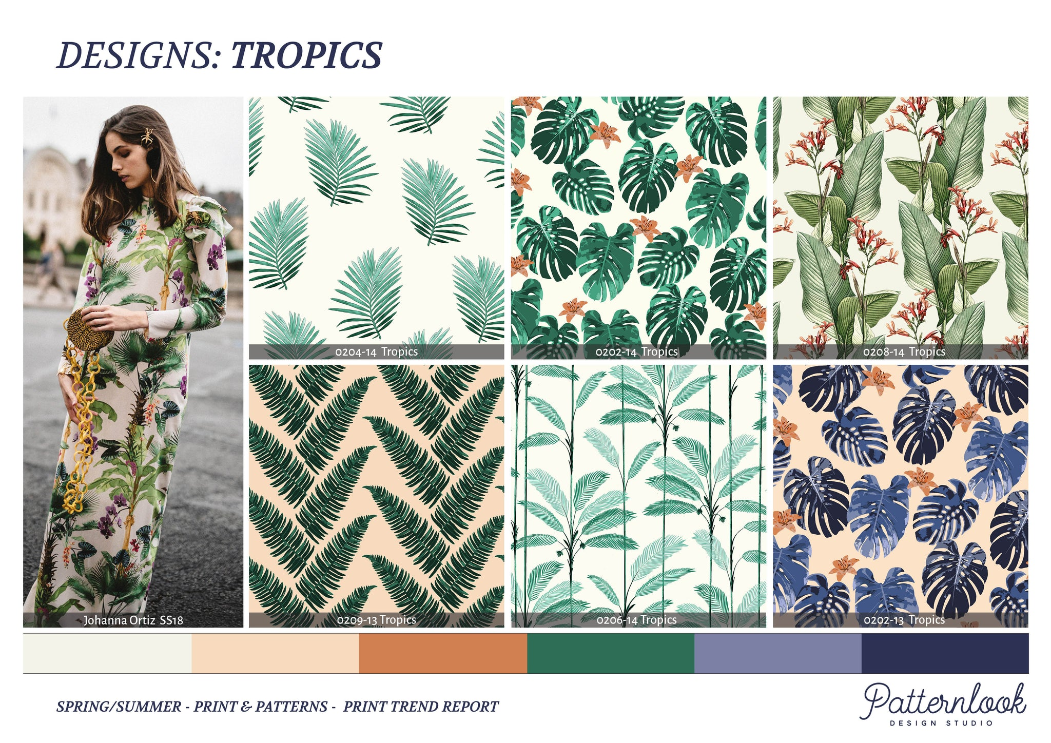 Tropical Print & Patterns SS19 Patternlook Design Studio