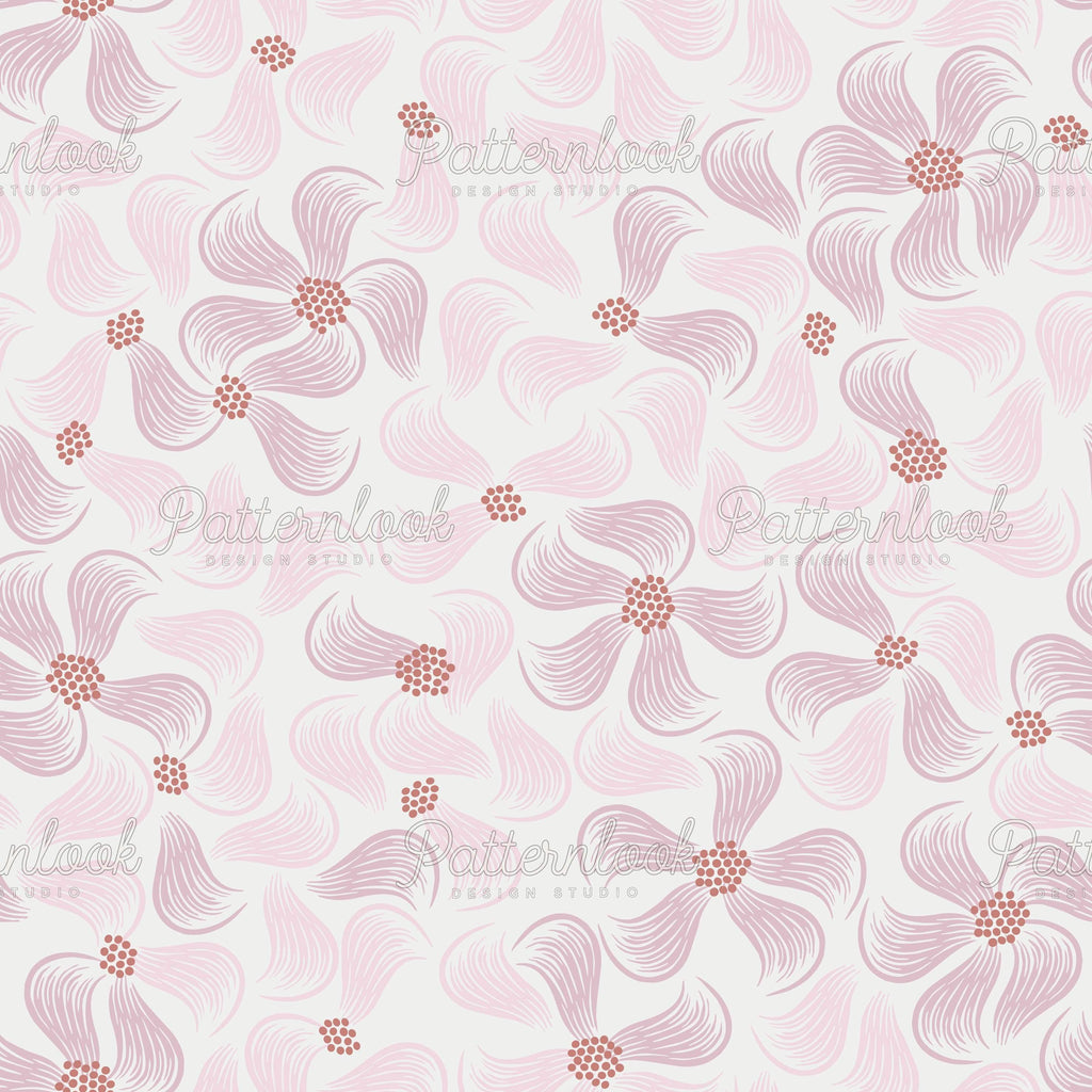 Patternlook Design Studio - Buy seamless surface patterns. We create beautiful, unique and trend driven seamless pattern & print designs for the fashion and lifestyle industry - selling to leading fashion houses, retailers and manufacturers globally. Gentle flowers, flower, blooms, botanic, womenswear, garden, pattern.