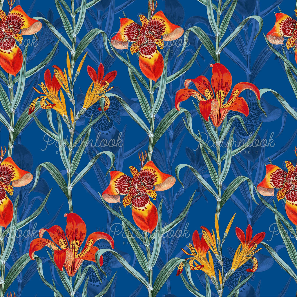 Patternlook Design Studio - Buy seamless surface patterns. We create beautiful, unique and trend driven seamless pattern & print designs for the fashion and lifestyle industry - selling to leading fashion houses, retailers and manufacturers globally. Tropicana, flower, tropical, botanic, palm, leave, tropics, patterns.