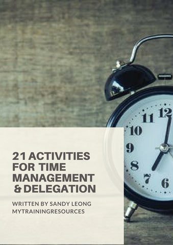 21 Activities for Time Management & Delegation