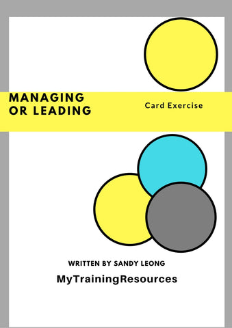 Managing or Leading Card Exercise