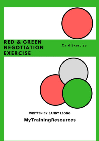 Red & Green Negotiation Card Exercise