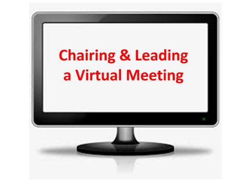 Chairing & Leading a Virtual Meeting PowerPoint with Trainer's Notes & Workbook