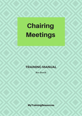 Chairing Meetings Training Manual