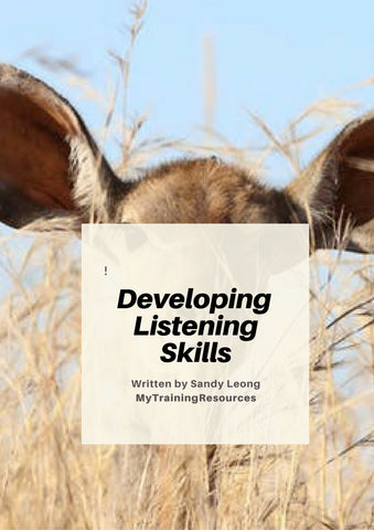 Developing Listening Skills Training Manual