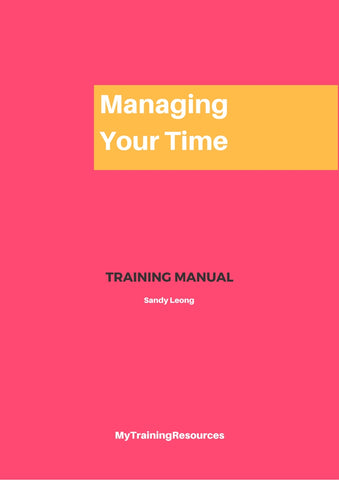 managing Your time Training Manual
