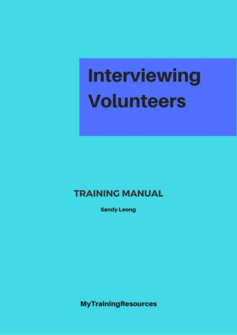 Interviewing Volunteers Training Manual