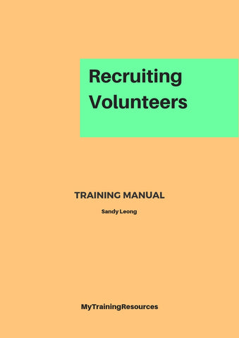 Recruiting Volunteers Training Manual