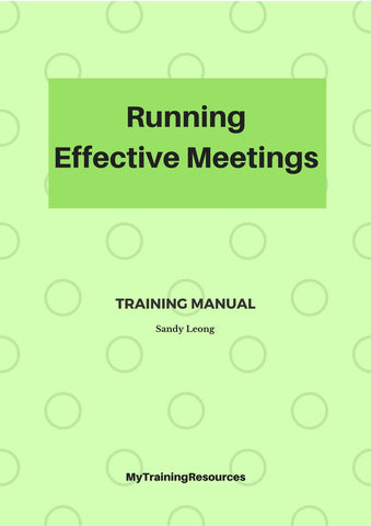 running Effective Meetings Training Manual