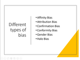Different types of biases