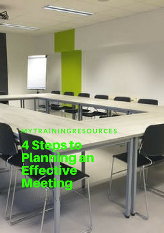 4 Steps to planning an effective meeting