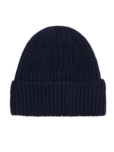 C.P. Company Ribbed Wool Goggle Hat - Navy
