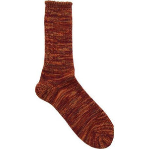 Anonymous Ism 5 Colour Crew Socks - Burnt Orange