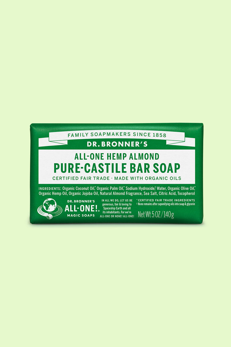 Dr Bronner's Pure Castile Bar Soap - Almond