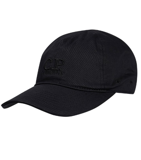C.P. Company Embroidered Logo Baseball Cap - Black Coffee