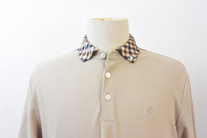 Aquascutum Coniston Club Check Polo Shirt - Beige