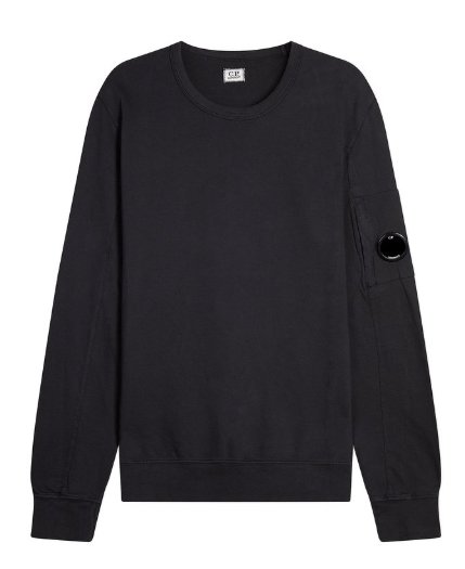 C.P. Company Light Fleece Lens Sweatshirt - Black Coffee