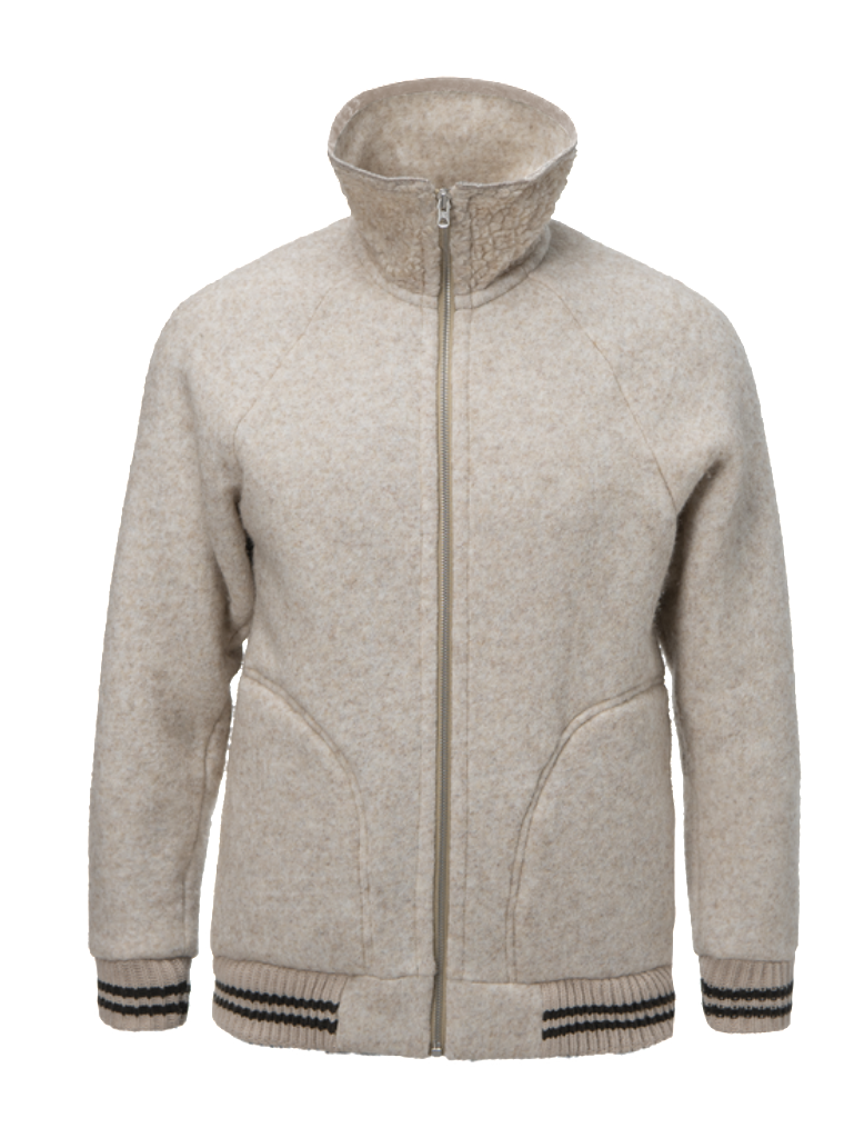 Nigel Cabourn x Peak Performance Wool Fleece Zip - Mountain Stone