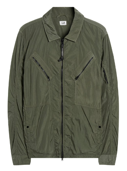 C.P. Company Chrome GD Utility Zip Overshirt - Sage