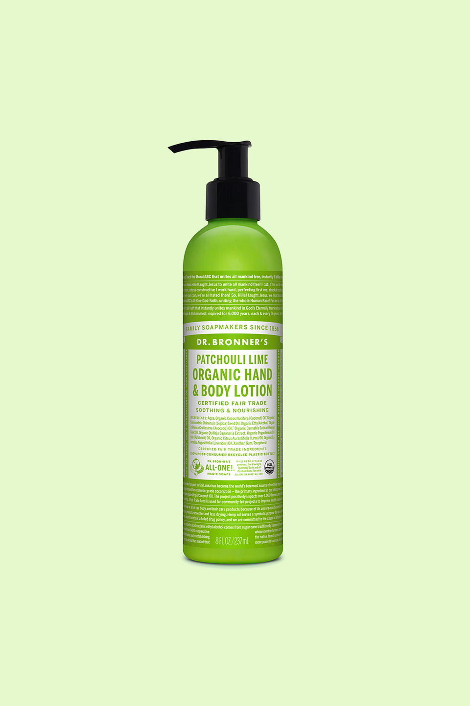Dr Bronner's Organic Hand & Body Lotion - Patchouli Lime 237ml