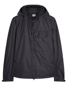 C.P. Company Micro-M Front Pocket Goggle Hood Overshirt - Black Coffee