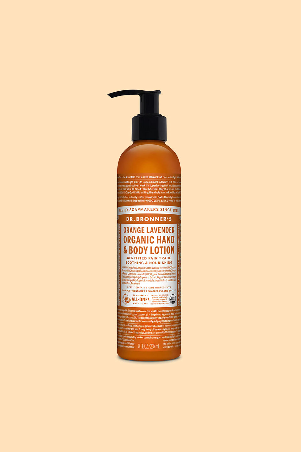 Dr Bronner's Organic Hand & Body Lotion - Organic Lavender 237ml
