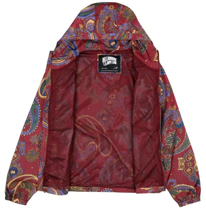 Billionaire Boys Club Paisley Nylon Jacket - Red