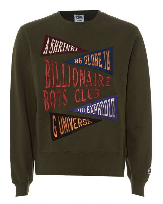 Billionaire Boys Club Pennant Applique Crewneck - Olive