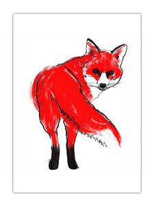 Tiff Howick A4 Screenprint - Fox
