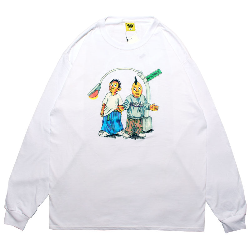 Iggy NYC On The Block LS T-Shirt - White