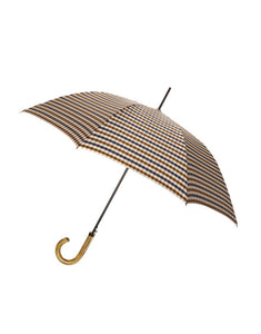 Aquascutum Club Check Walker Umbrella - Vicuna