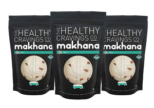 Premium Crunchy Roasted Makhana - Mint (Pack of 3)