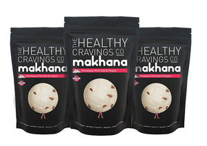Premium Crunchy Roasted Makhana - Himalayan Pink Salt & Pepper (Pack of 3)