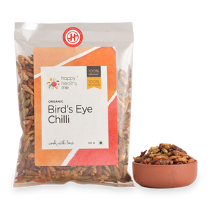 Organic Birds Eye Chili - 50gm