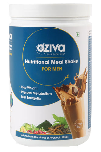 OZiva Nutritional Meal Shake (Meal Replacement) Chocolate For Men