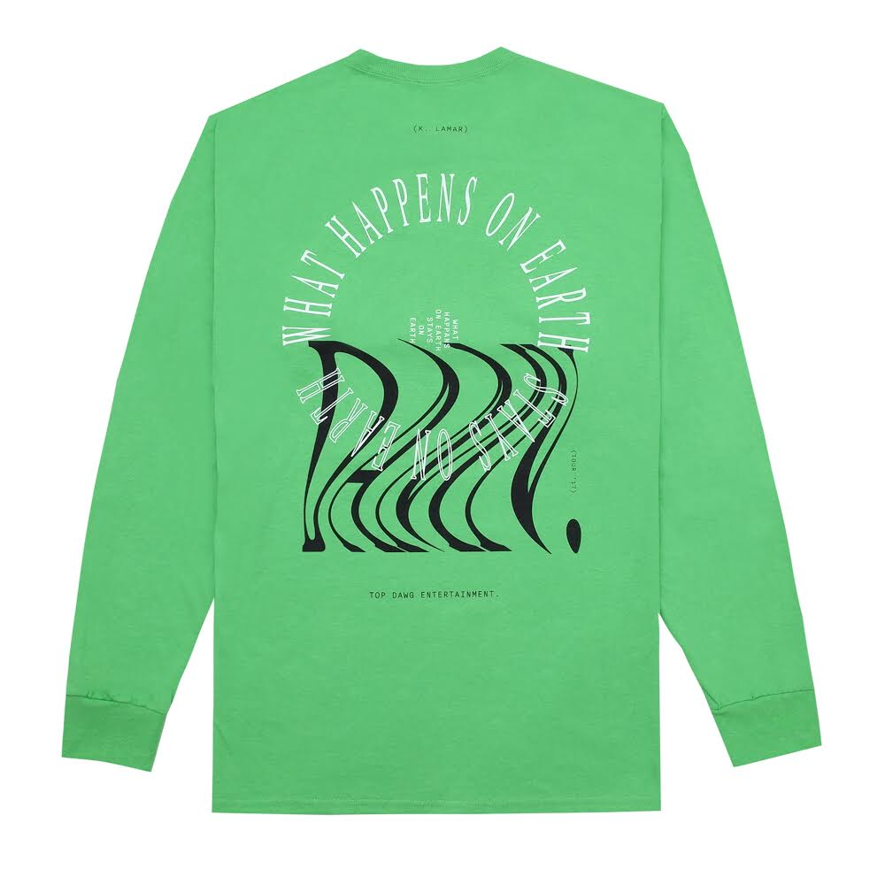 KENDRICK LAMAR THE DAMN. POP-UP L/S GREEN T-SHIRT