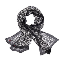 Save the Children Silk Wrap Scarf in Black with White