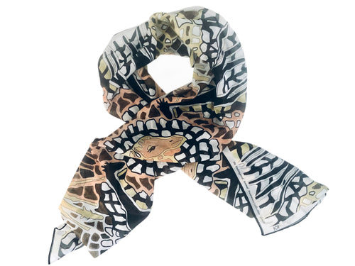 Giraffe Silk Scarf, The Endangered Animal Collection