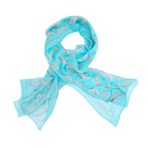 Freedom & Flight Sillk Wrap Scarf in Turquoise (SOLD OUT)