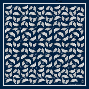 Freedom & Flight Silk Handkerchief Scarf in Navy (only 1 left)
