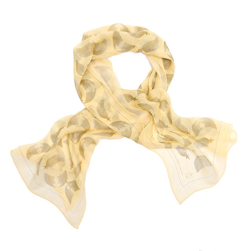 Freedom & Flight Silk Wrap Scarf in Pastel Yellow (SOLD OUT)