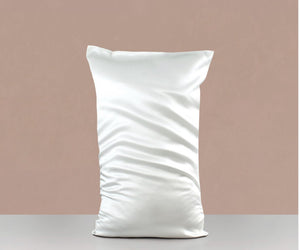 WHITE SILK PILLOW SLIP