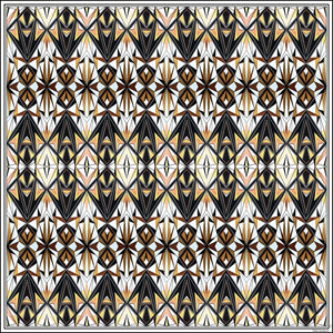 Tribal Symmetry Silk Pocket Square